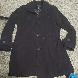 Brown wool blend XL coat